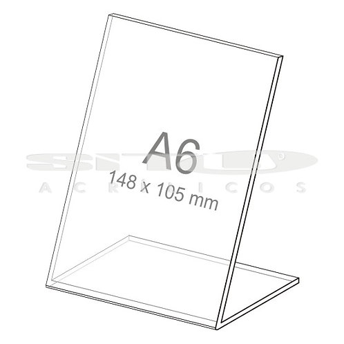 Display L - Vertical - Tam.: A6 (105 x 148 mm) - Sem fundo
