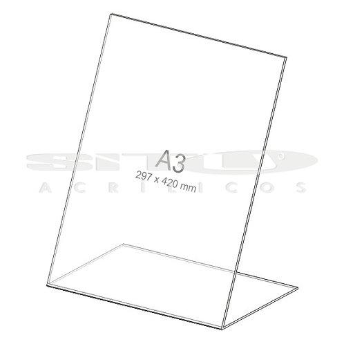 Display L - Vertical - Tam.: A3 (297 x 420 mm) - Sem fundo