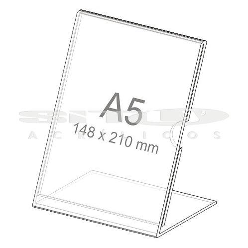 Display L - Vertical - Tam.: A5 (210 x 148 mm) - Com fundo