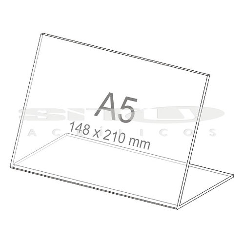 Display L - Horizontal - Tam.: A5 (148x 210 mm) - Sem fundo