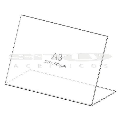 Display L - Horizontal - Tam.: A3 (297 x 420 mm) - Sem fundo
