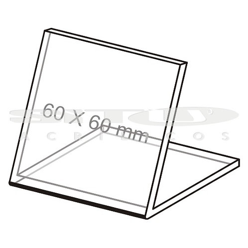 Display L - Tam.: 60 x 60 mm - Sem fundo