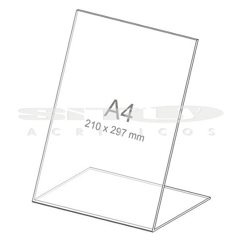 Display L - Vertical - Tam.: A4 (210x 297 mm) - Sem fundo