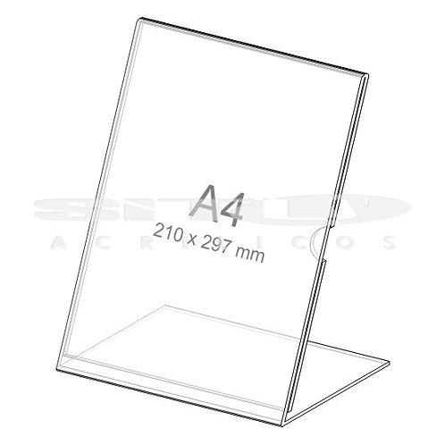 Display L - Vertical - Tam.: A4 (297 x 210 mm) - Com fundo