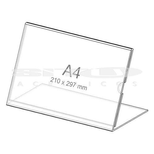 Display L - Horizontal - Tam.: A4 (210 x 297 mm) - Com fundo