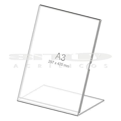 Display L - Vertical - Tam.: A3 (420 x 297 mm) - Com fundo