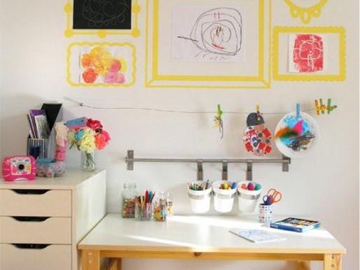 Home Decor: Kids art corner