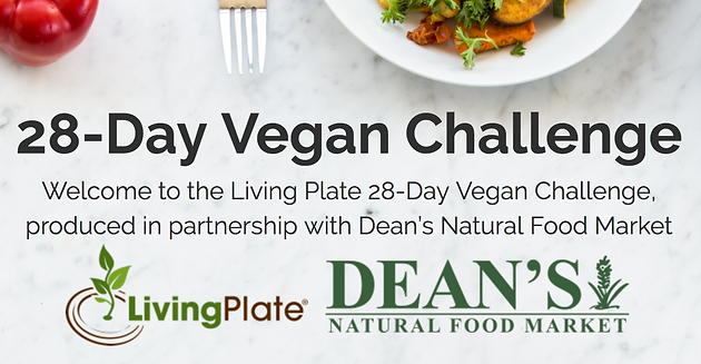 Get ready to eat your veggies 28 day vegan meal planner deans we are thrilled to partner with the team at living plate to present a 28 day vegan challenge spend 28 days eating only plants forumfinder Gallery