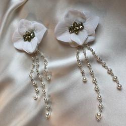 """Серьги """"цветы""""090"""
