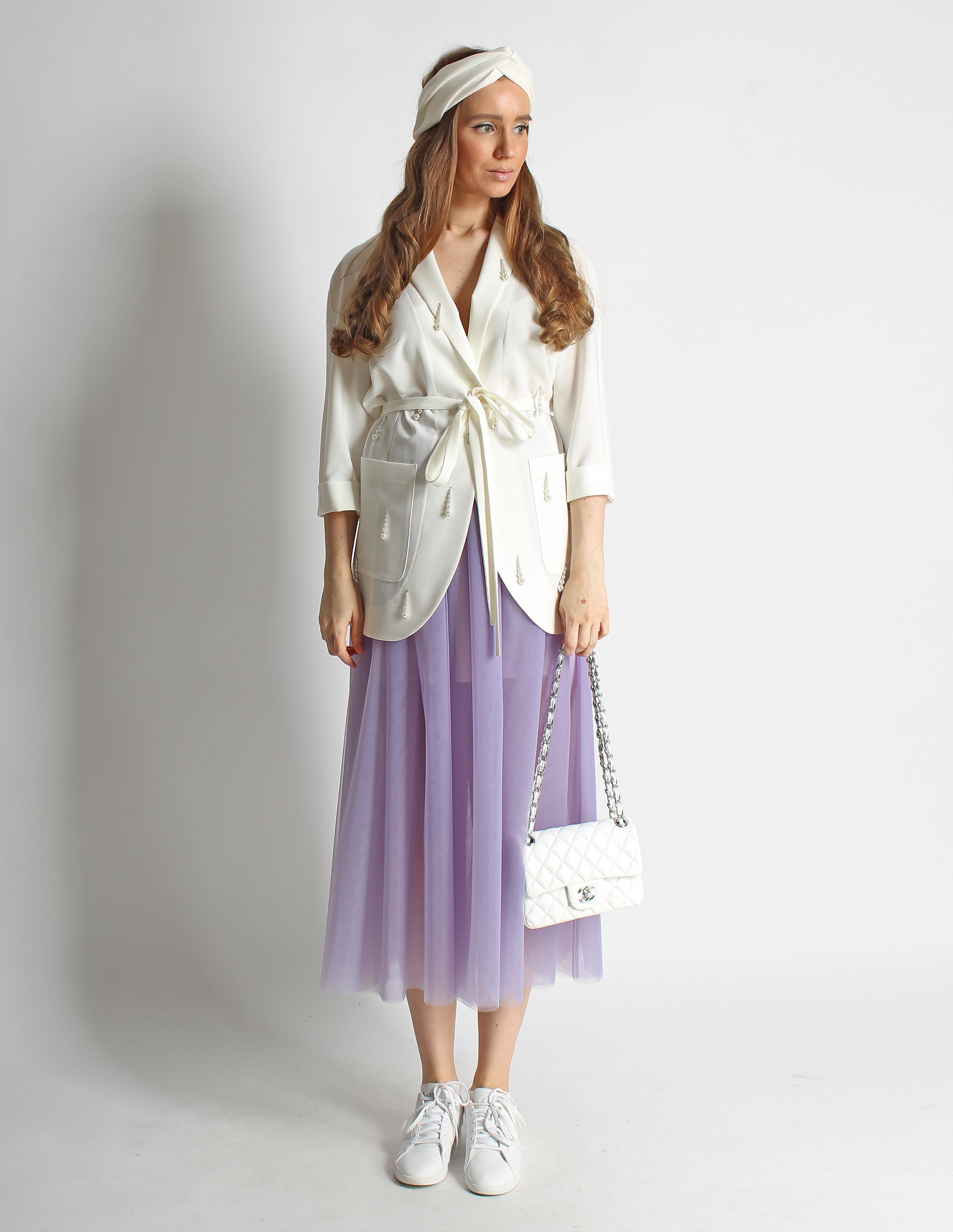 Жакет и юбка из фатина