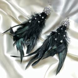 Серьги с перьями