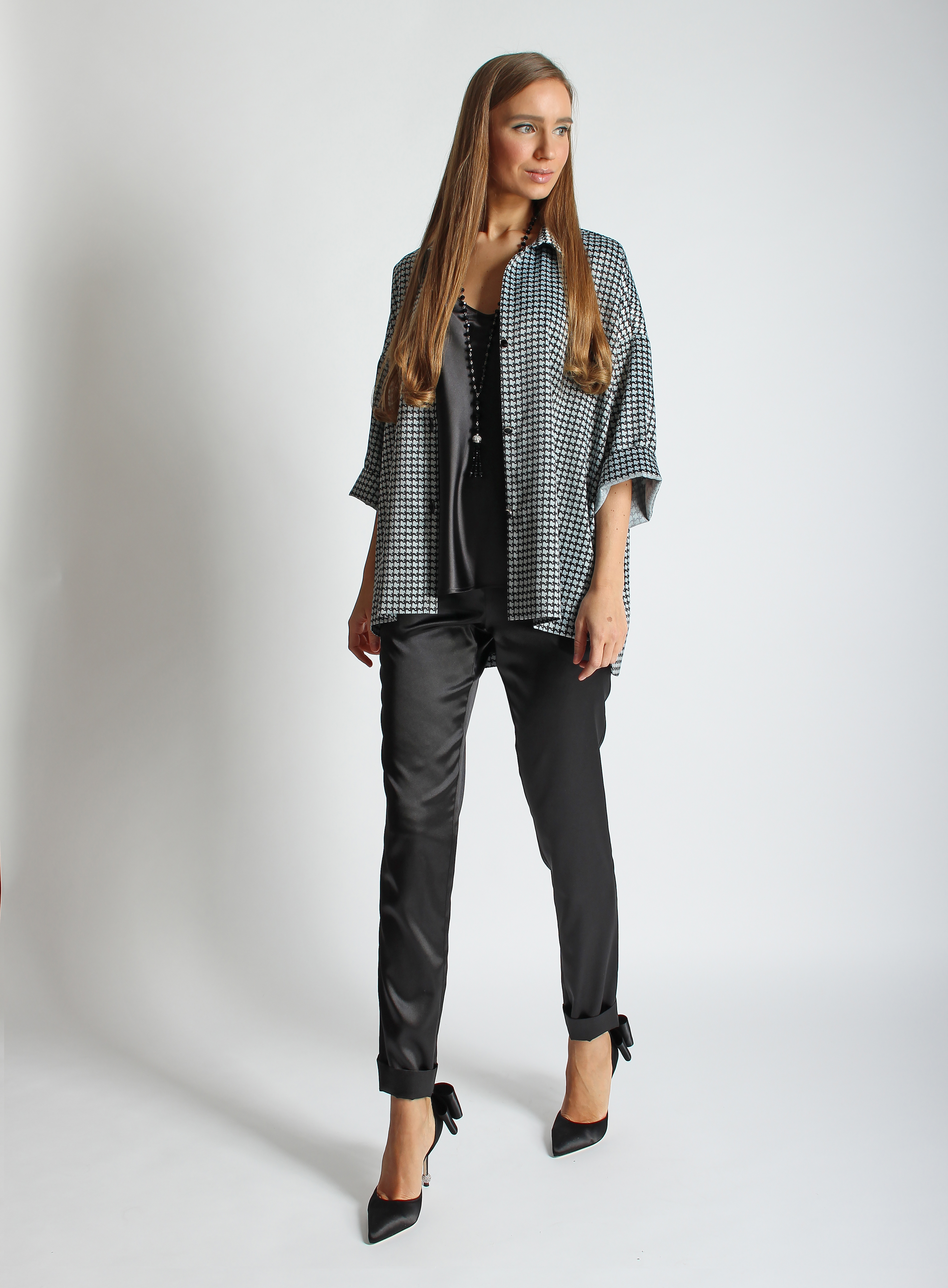 Блуза из плотного шелка