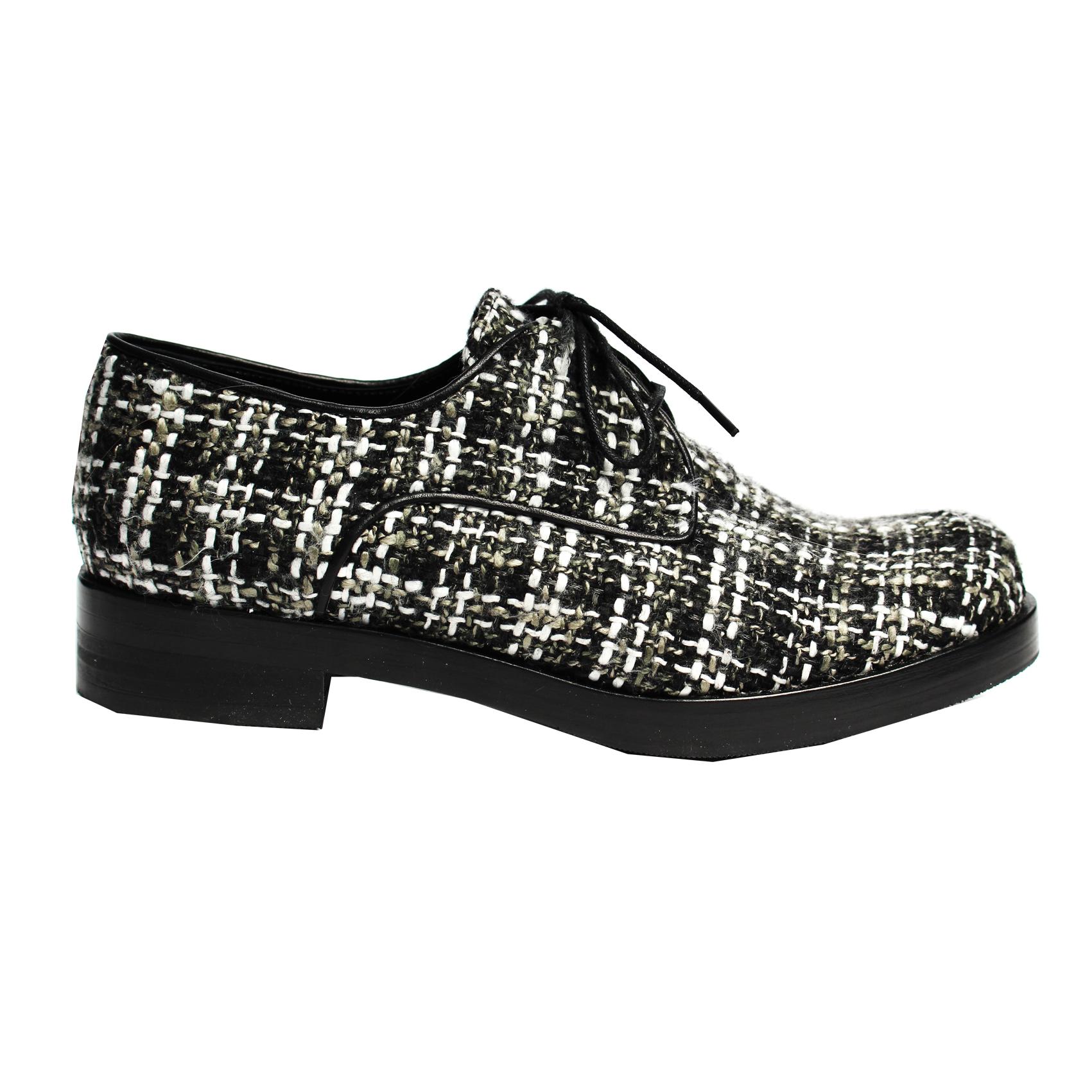 Ботинки из твида