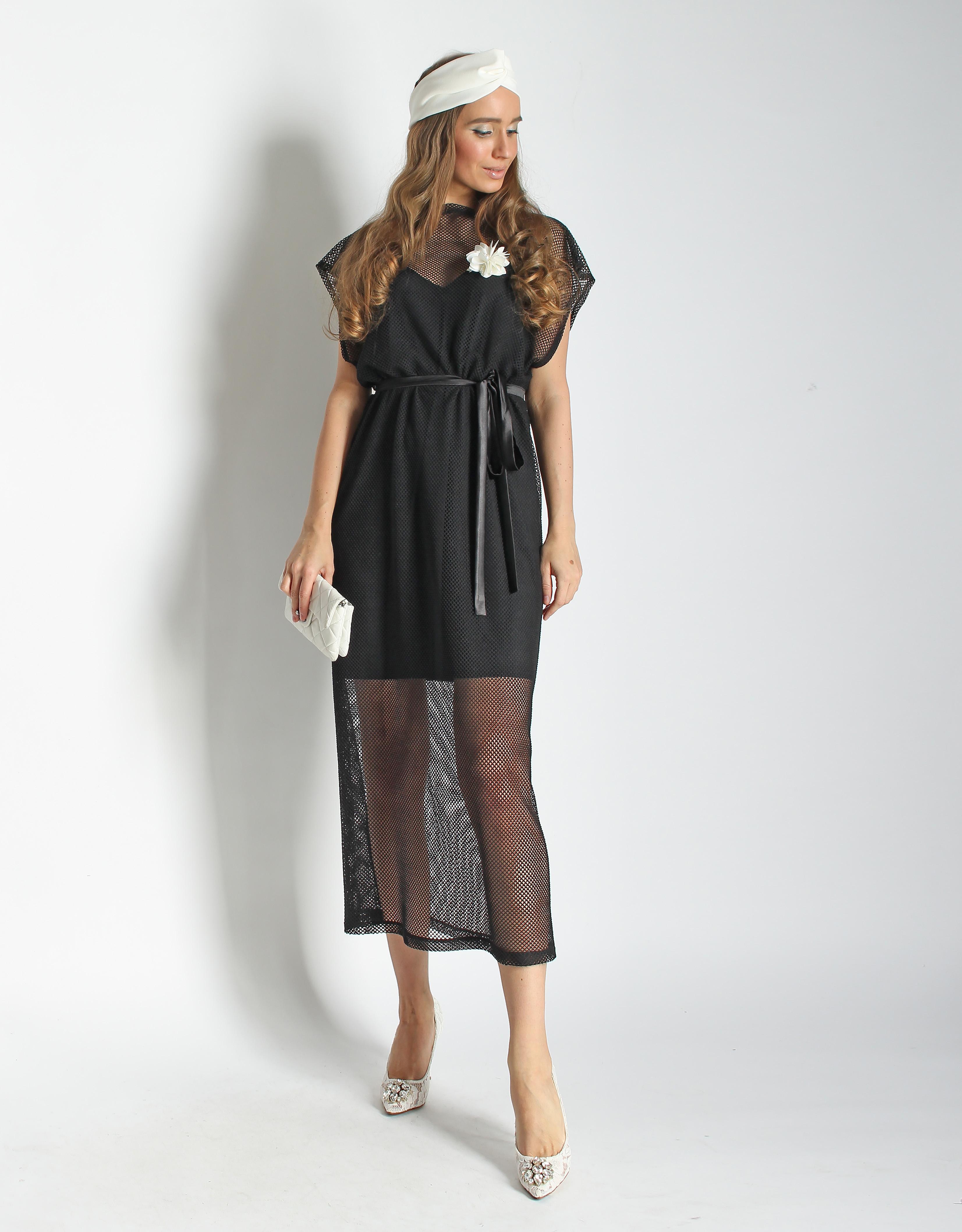 Платье из сетки