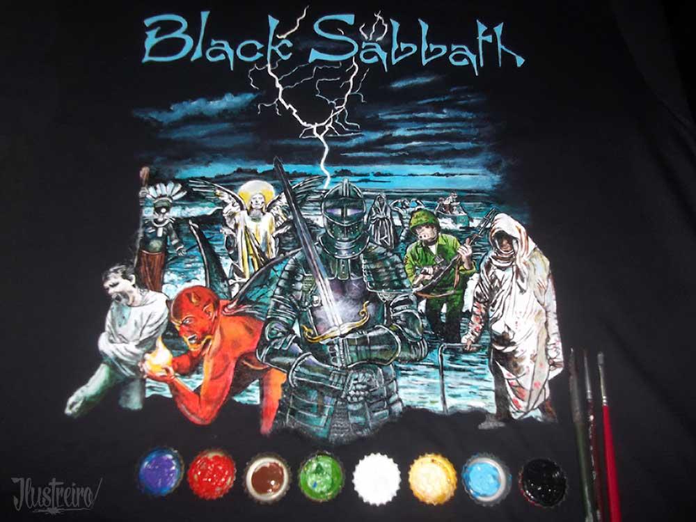 8eb9366394 Camiseta Black Sabbath