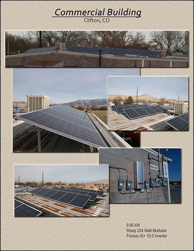 Commercial solar, Clifton, CO