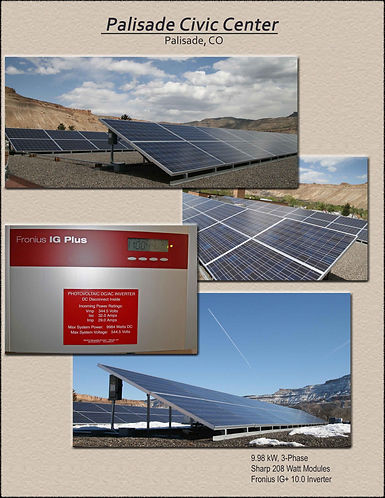 Commercial solar projects, Palisade Civic Center, PowerOn Solar