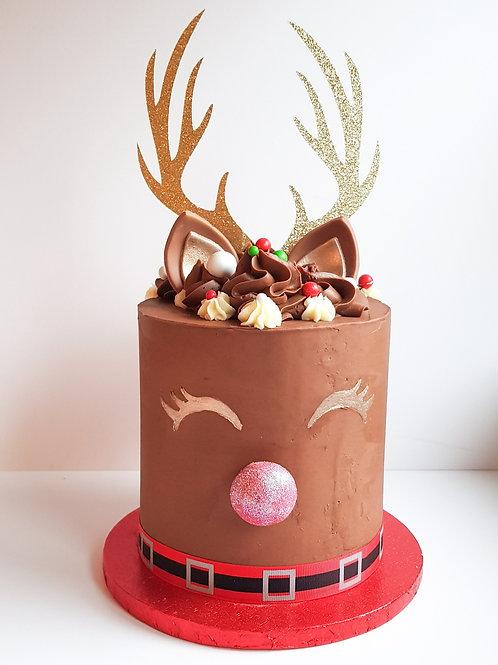 Reindeer Christmas Cake £50 (£25 deposit)