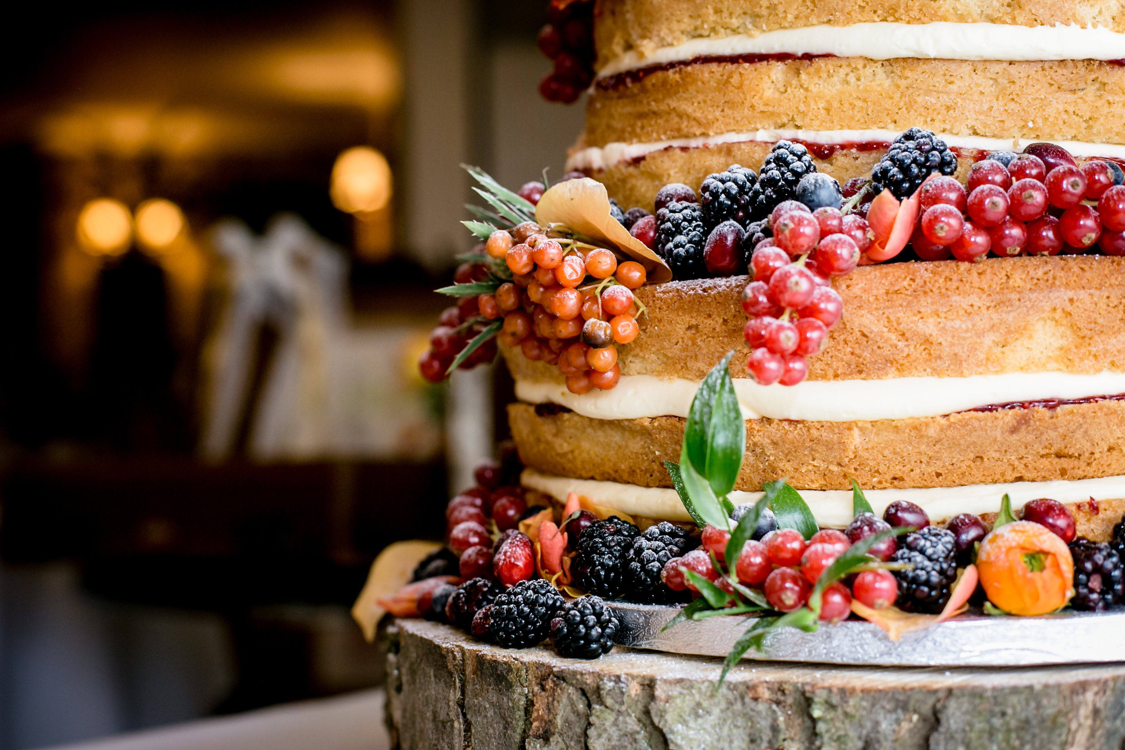 Autumnal Naked wedding Cake