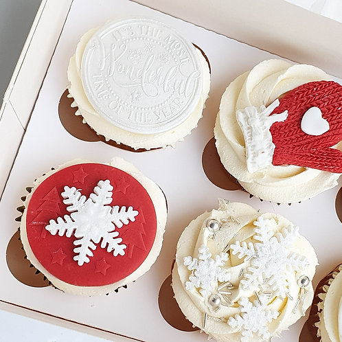 The Red Edit Cupcakes x 4 £10