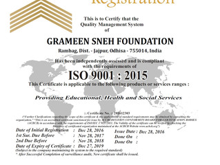 GSF gets ISO 9001:2015 certification