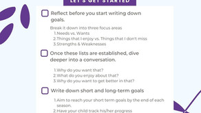 When, how and where should we focus our attention when supporting our children with their goals?
