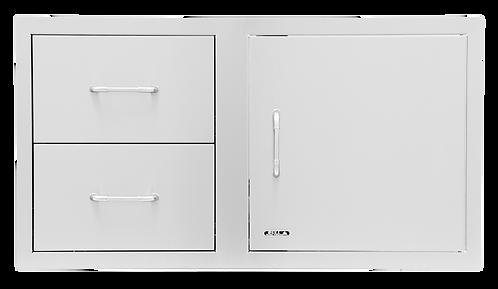 Bull 97cm Door/Drawer Combo: StainlessSteel