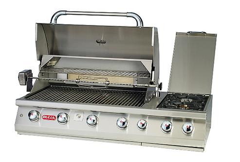 Bull 7 Burner Premium Gas Built In Barbecue with Rotisserie -