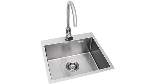 Bull Sink & Tap - Stainless Steel: Large
