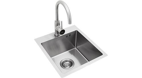 Bull small stainless steel sink and tap