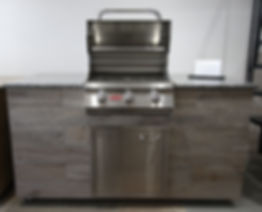 BBQ Island with Bull Steer BBQ grill