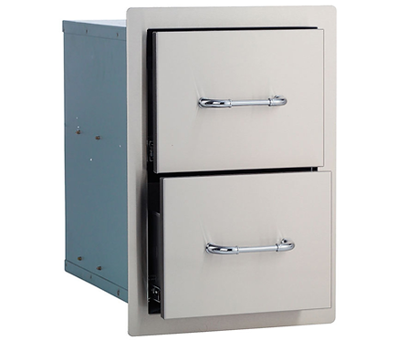 Bull Double Drawer: Stainless Steel