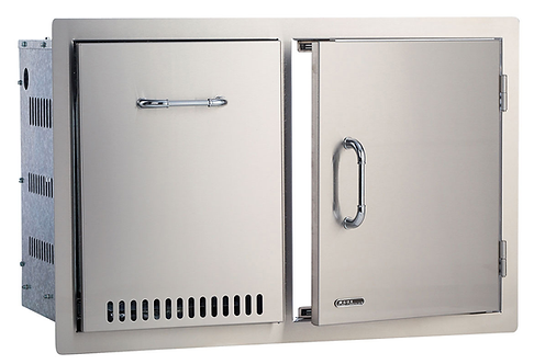 Bull 76cm Door/Propane Drawer Combo: Stainless Steel