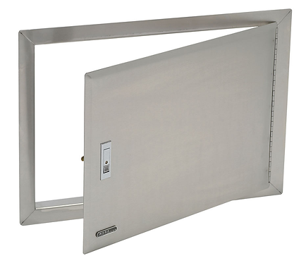 Horizontal Single Access Door: Stainless Steel