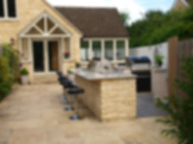 Natural Stone Outdoor Kitchen with Granite worktop