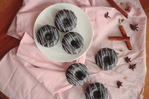 AGNES MWAKATUMA | chai, hazelnut and activated charcoal donuts