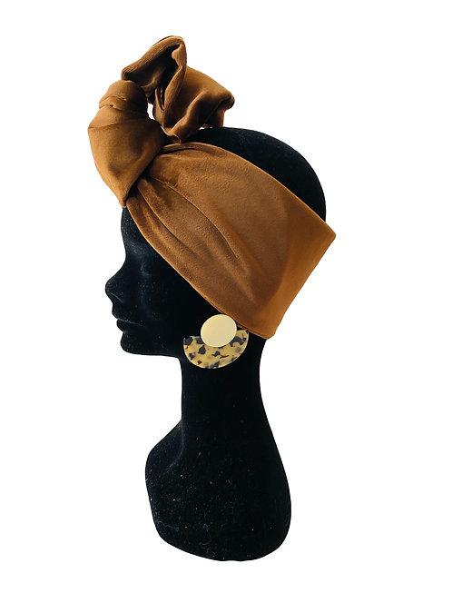 Headband VELLUTO MARRONE