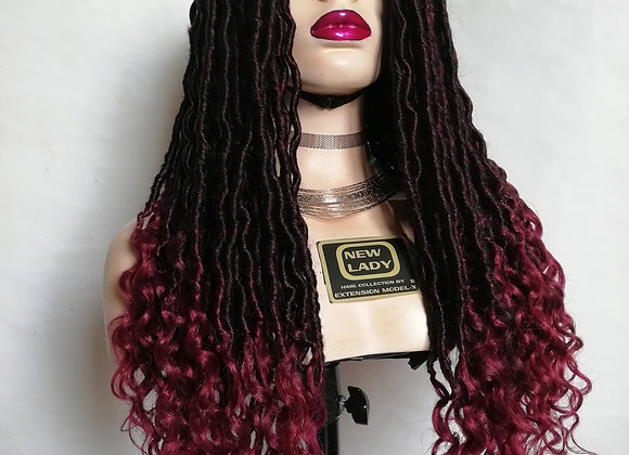 NEW LADY HAIR COLLECTION  CROCHET LOCS WIG