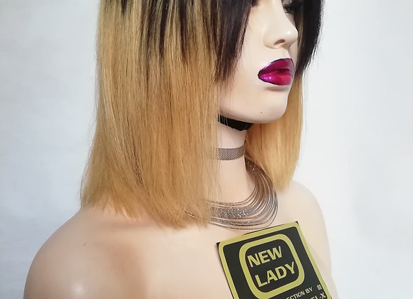 NEW LADY HAIR COLLECTION YAKI BLEND HUMAN HAIR OMBRE WIG