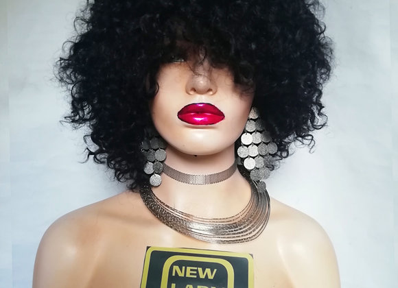 NEW LADY HAIR COLLECTION BY EXTENSION MODEL-X, PARRUCCA NATURALE RICCIO AFRO