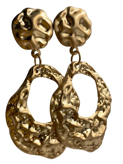 Gold Nugget Earrings