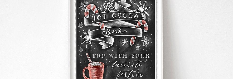 """Hot Cocoa Bar"" Chalkboard Print"