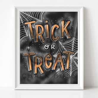trick or treat art.Halloween Candy Bowl Art. Chalk Boss.png