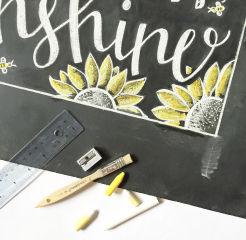 personalized chalkboard, lettering artist, chalk art, chalkboard artist, boss bands, signage, chalkboard signs, lettering, chalk lettering, home decor
