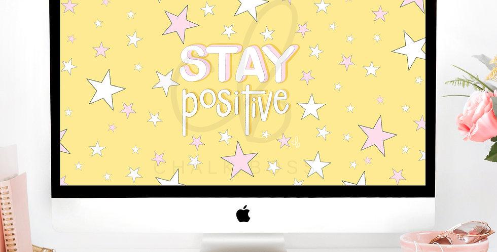 """Positive Vibes"" Wallpaper Download"
