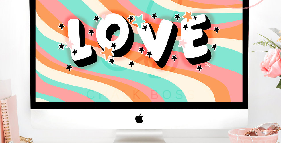"""""""Groovy Love"""" Wallpaper Download"""