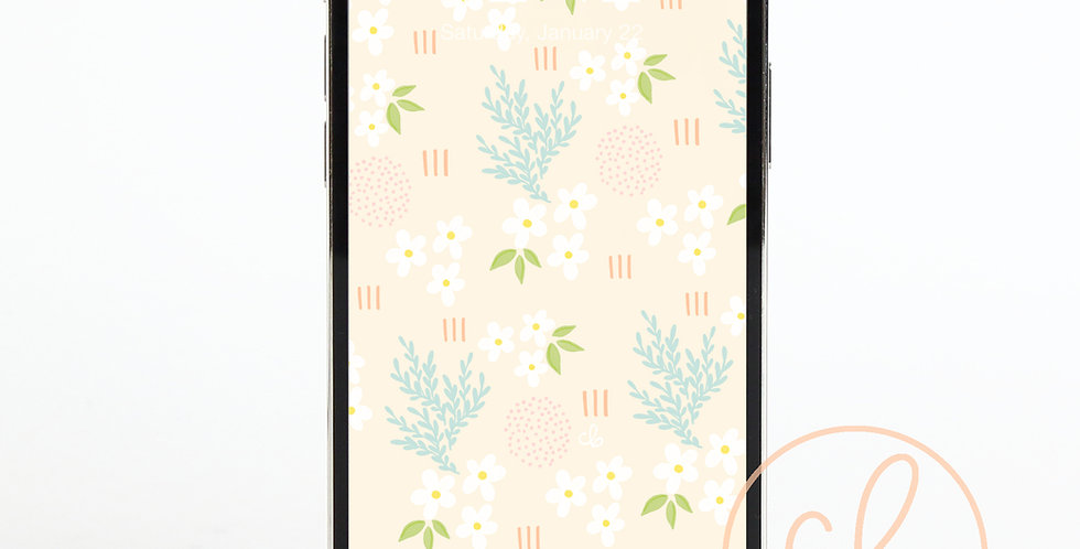 """""""Spring Daisy's"""" Phone Wallpaper Download"""