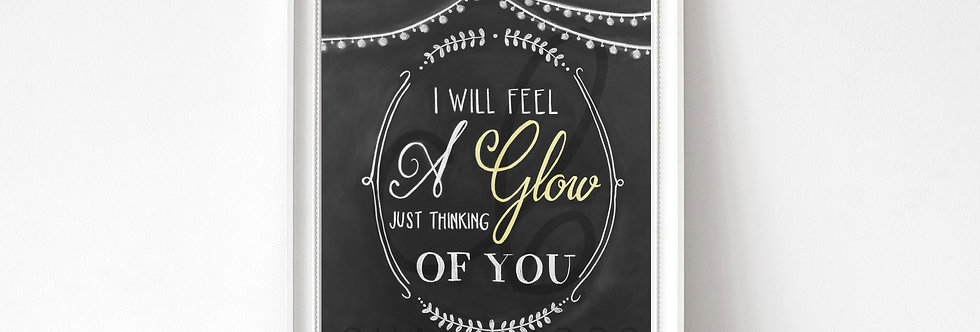 """""""Just Thinking of You"""" Chalkboard Print"""