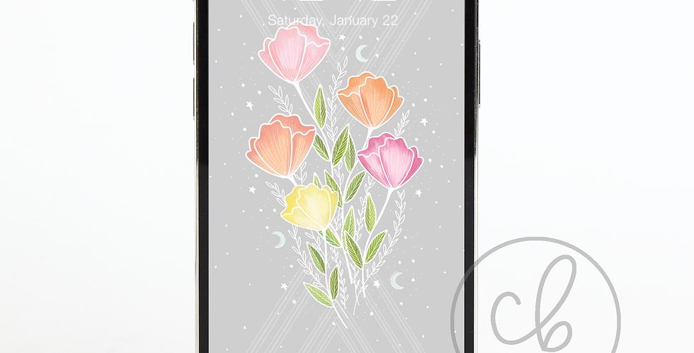 """""""Vintage Floral """" Phone Wallpaper Download"""
