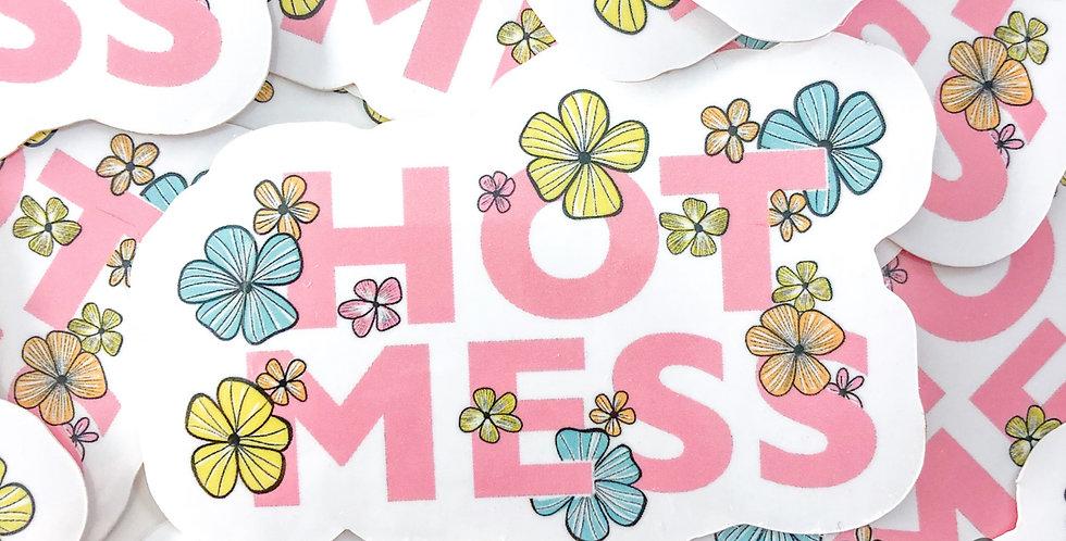 """""""HOT MESS"""" Sticker"""